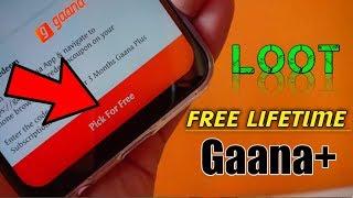 How to Get FREE Lifetime Gaana+  Premium Subscription    Get Gaana Plus Premium free for Lifetime