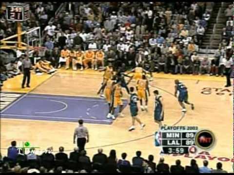Kevin Garnett vs Los Angeles Lakers  2003 playoffs Game 3  33/14/4/4/2