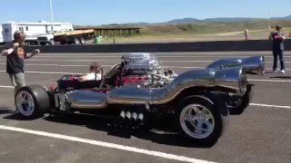 Pulsejet engine powered car startup.