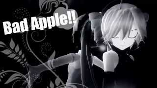 【MMD】Bad Apple!! Miku Hatsune y Kasane Teto :3