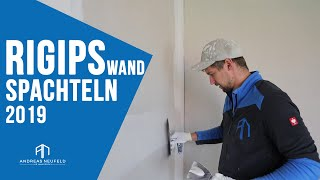 Rigips Wand spachteln Q2 2019