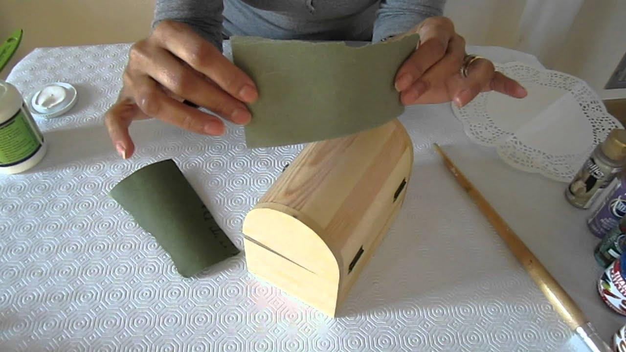 Decorar una caja de madera youtube - Madera para decorar ...