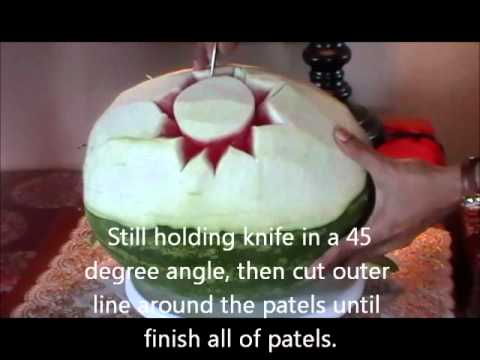 Fruit carving Tutorial Dahlia part 1