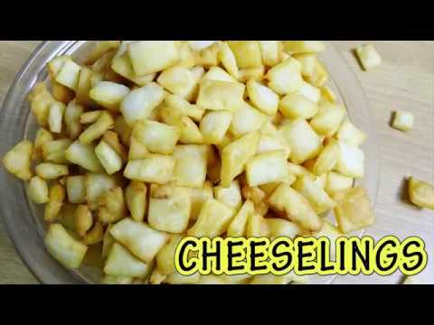CHEESELINGS | चीसलिंग्स | CHEESE NAMKEEN | DRY SNACKS RECIPE | RUCHI'S KITCHEN CORNER