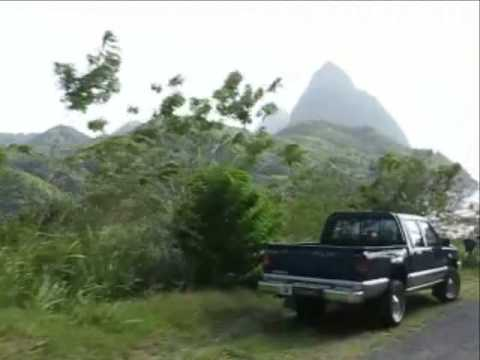 Driving from Castries to Soufriere - St Lucia, West Indies