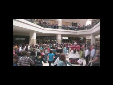 Shoppers start dance flash mob at Portland mall