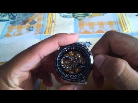 Jijia 8010 Men Mechanical Watch Self - winding Hollow
