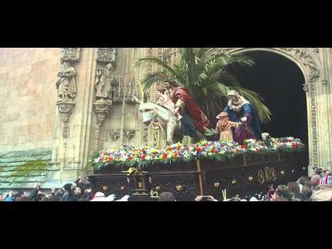 Salida de la Procesión de La Borriquilla. Salamanca 2013