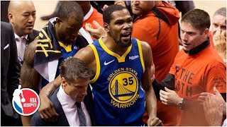 Kevin Durant suffers Achilles injury after hot start, exits Game 5 | 2019 NBA Finals Highlights