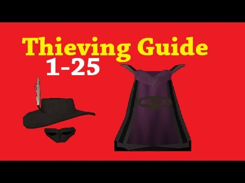 Runescape 2007 Thieving Guide: 1-25 with commentary