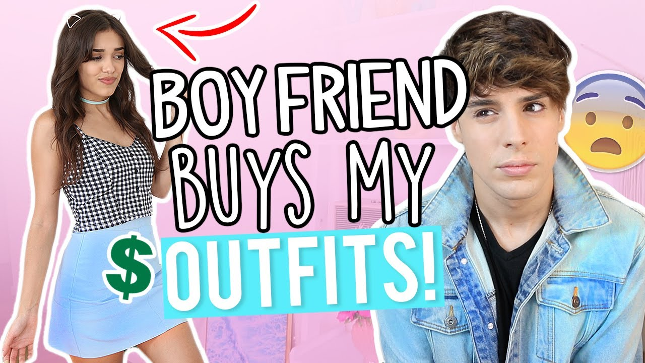 BOYFRIEND BUYS MY OUTFITS! Shopping Challenge 2017
