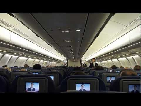 Qantas Airlines Safety Announcement | Aviation Security on Plane - Flight Security Information