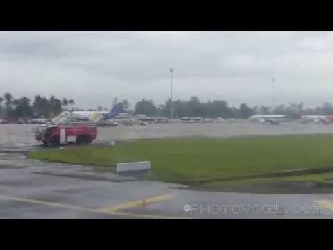 Water cannon Salute for AirAsia India at Kochi
