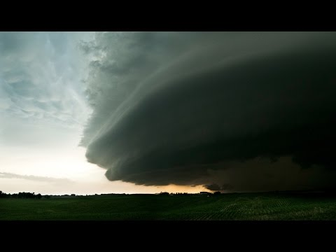 Trapped in Path of Tornadic Supercell - Bartlett NE Supercell 6-16-14