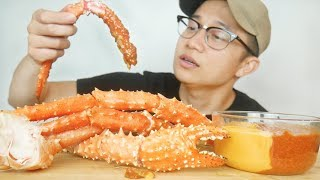 CHILI CHEESE ALASKAN KING CRAB LEGS SEAFOOD MUKBANG | EATING SHOW