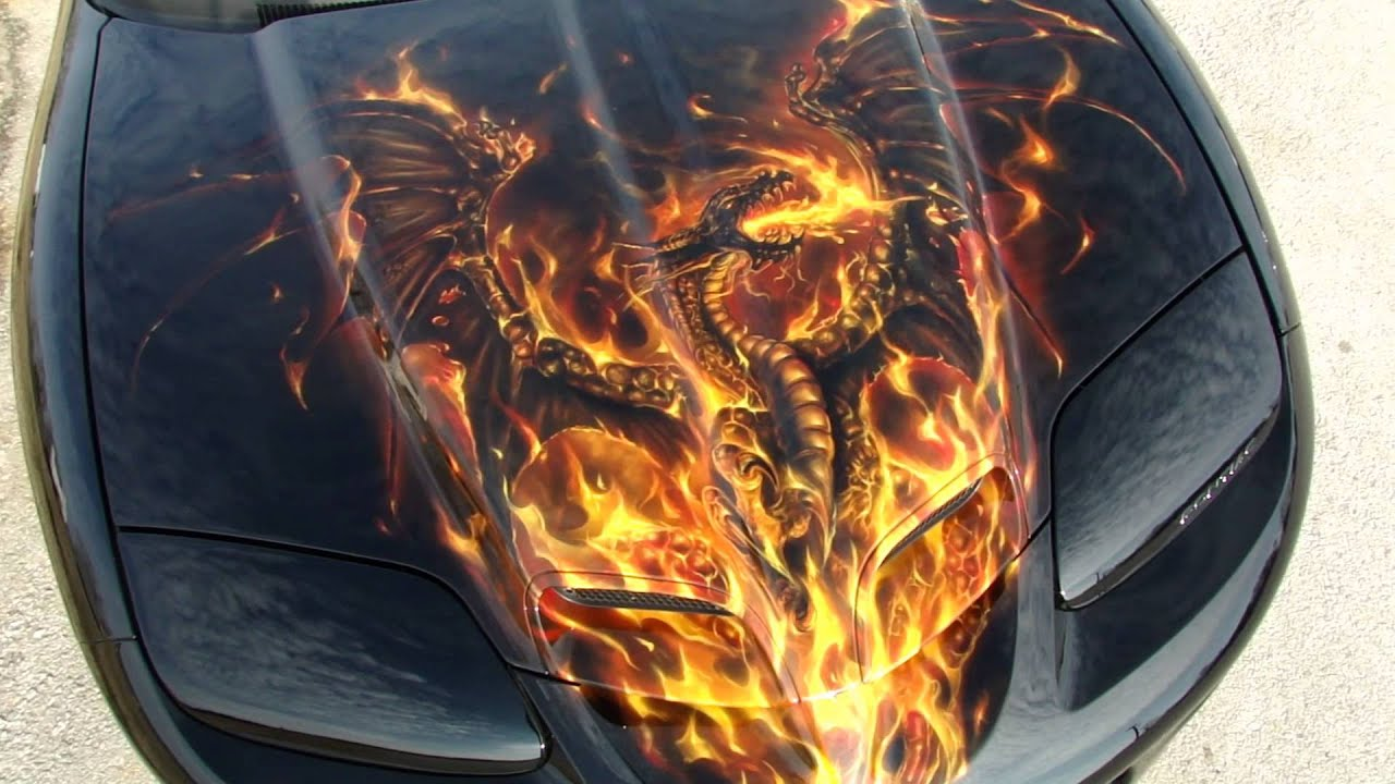 How To Paint Ghost Flames With Spray Paint