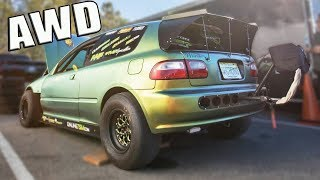 They Built an ALL WHEEL DRIVE 1300hp Civic