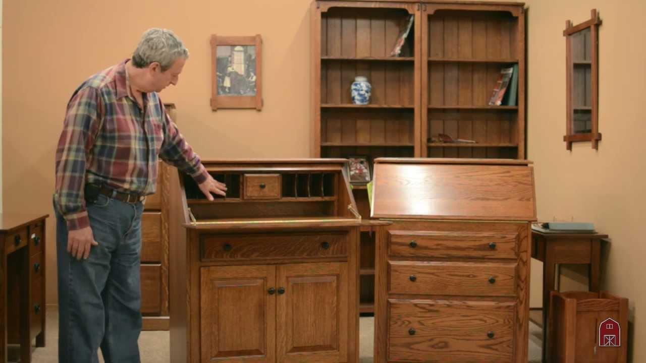 Office Furniture Secretary Desk Oak Roll Top Desk