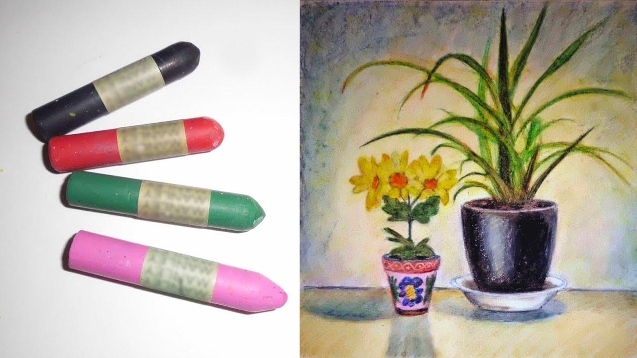 C mo pintar con pinturas de cera youtube - Como pintar cuadros faciles ...