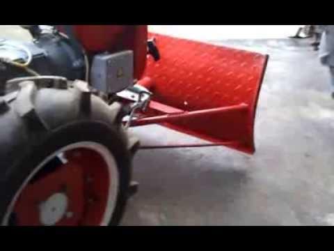Мотоблок Мотор Сич и лопата отвал снегоуборщик своими руками