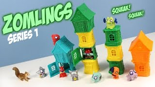 Zomlings In the town Series 1 Miniature Toys Opening