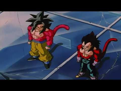 Dragonball Gt - Goku & Vegeta Fuse ~ Gogeta Ssj4 (remastered 720p Hd) [original] video