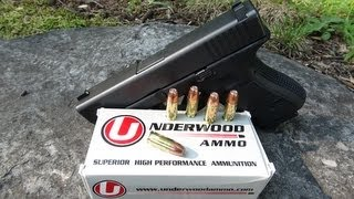 9mm +P+ Underwood Gold Dot 124 gr Ammo Gel Test
