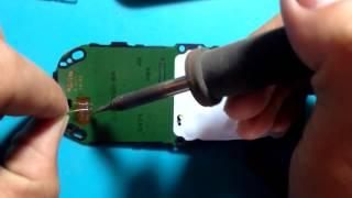 Nokia 1280 no display - no light - no display number fix done