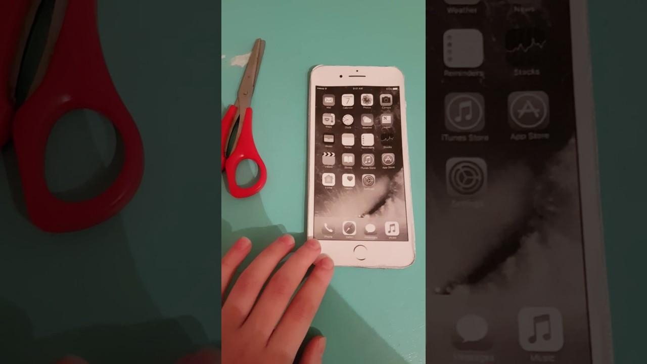 Как сделать бумажное айфон