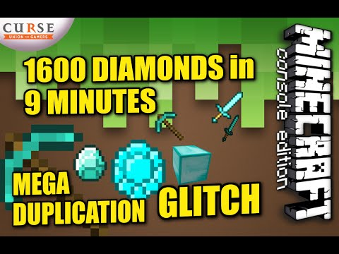 MINECRAFT - PS4 - MEGA DIAMOND DUPLICATION - HOW TO - TUTORIAL ( PS3 / XBOX ) TU19 UPDATE