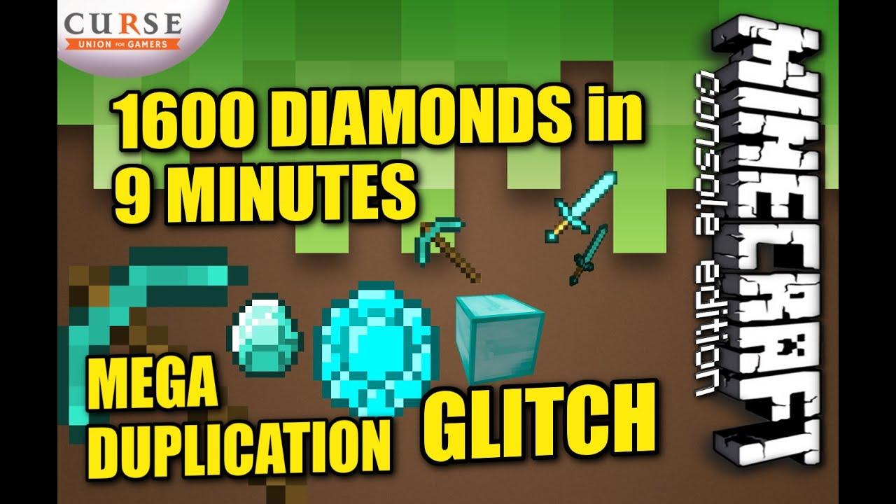 Minecraft ps4 mega diamond duplication how to tutorial ps3