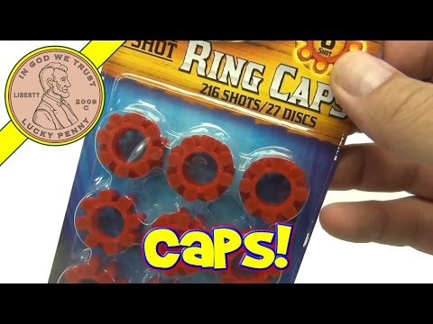 Cap Gun Ring Caps & Toy 8-Shot Plastic 007 Cap Gun with Orange Safety Tip. 2011 Imperial