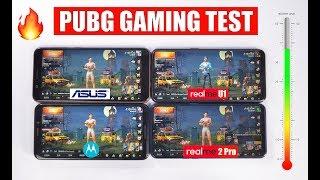 Realme U1 vs Realme 2 Pro vs 6GB Zenfone Max Pro M1 vs Moto One Power - PUBG Gaming Test 🔥