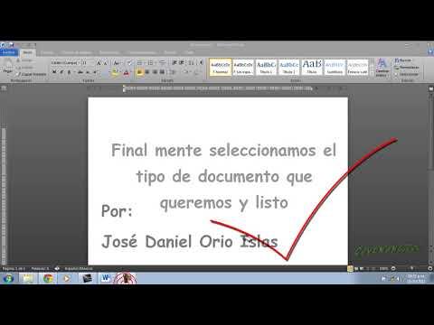 Como crear un nuevo documento de Microsft Word
