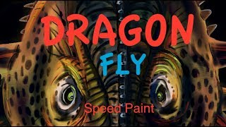 Dragonfly - Dragon & friend illustration created in Rebelle 3 - Speed paint.