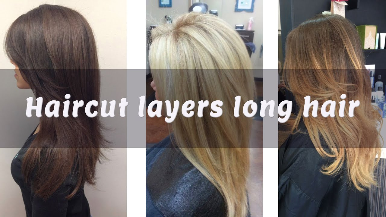 Layered haircuts from behind