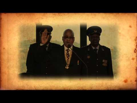 President Jacob Zuma being sworn in advert