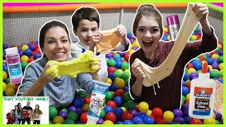 Ball Pit SLIME Challenge! / That YouTub3 Family