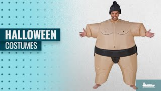 Gemmy Men Halloween Costumes [2018]: Inflatable Sumo Wrestler Costume - One Size - Chest Size 40-48