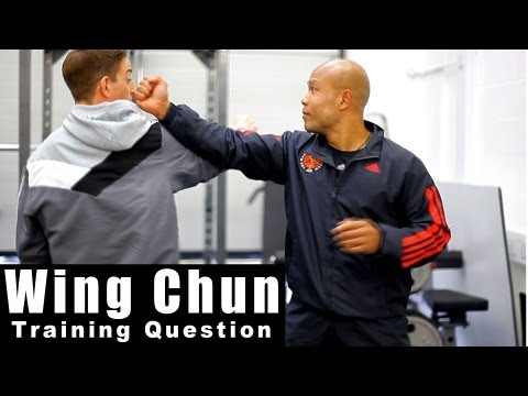 Wing Chun Techniques - How to block a straight punch. Q1 Image 1