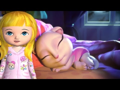 My Talking Angela Sleep While Ava the 3D Doll Get Up