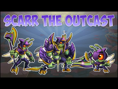 Monster Legends Review - Scarr The Outcast (VIP) - Mejores Ataques - Lv 1 al 100