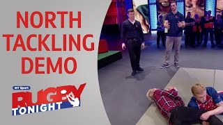 George North tackling demo on Rugby Tonight | Rugby Video Highlights