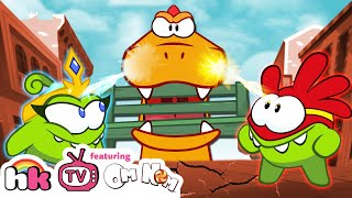 Om Nom Stories: SUPER-NOMS vs OMZILLA! NEW SEASON 8! Funny Cartoons for Children by HooplaKidzTV