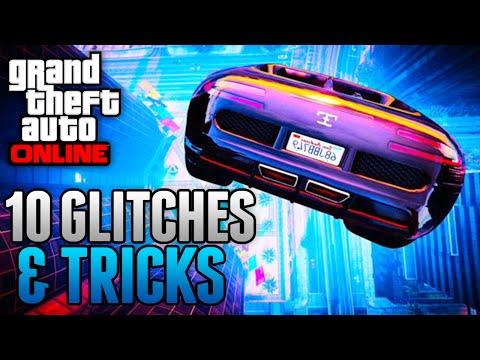 GTA 5 Glitches - 10 GLITCHES & TRICKS ONLINE (Free Ammo, Ice Skating Glitch, Rapid Fire & More)