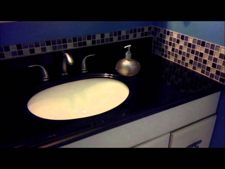 Diy Update Bathroom Vanity Granite Counter Top Easy