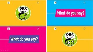 PBS Kids Channel: What do you say? Compilation (2017)