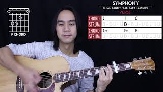 Symphony Guitar Cover Acoustic - Clean Bandit Zara Larsson 🎸 |Tabs + Chords|