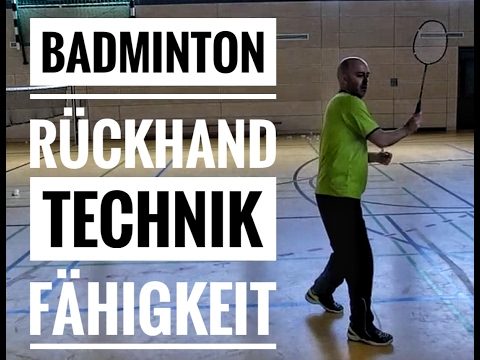 Badminton Technik: Rückhand Überkopf Neutral Drop (How To Badminton Backhand Pulled Dropshot)