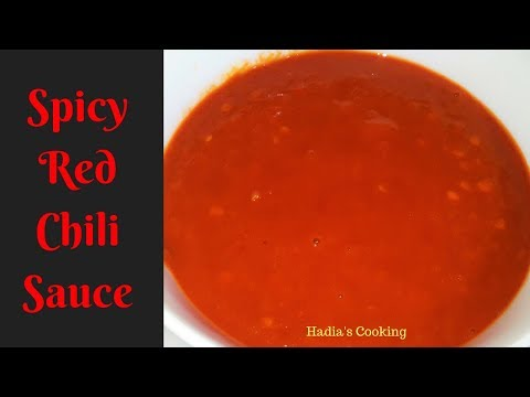 How To Make Red Chili Sauce At Home | Easy And Quick Red Chili Sauce | Recipe By Hadia's Cooking